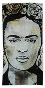 Frida Kahlo Press Beach Towel