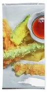 Fried Shrimps Tempura Beach Towel