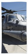 Front View Of A Hh-60g Pave Hawk Beach Towel