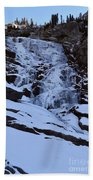 Frozen Tokopah Falls Beach Towel