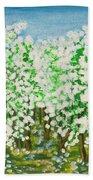Garden In Blossom Beach Towel