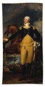 George Washington Before The Battle Of Trenton Beach Towel