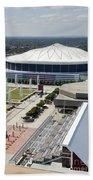 Georgia Dome In Atlanta Beach Towel