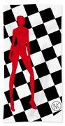 Girls. Red. II Beach Sheet
