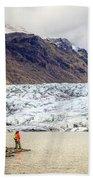 Glacier Lagoon Beach Towel