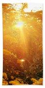 Golden Days Of Autumn Beach Sheet