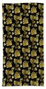 Golden Tropics Pattern Beach Towel