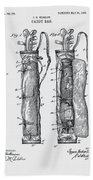 Golf Caddy Bag Patent 1905 Beach Towel