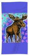 Graffiti Moose Beach Towel