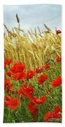 Grain And Poppy Field Beach Towel by Elena Elisseeva