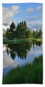 Grand Teton Reflection Beach Towel