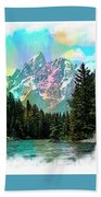 Grand Tetons From The Snake River Beach Towel