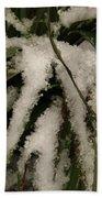 Grass In Snow 2 Beach Towel