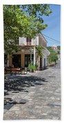 Greek Village Plaza Beach Towel