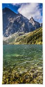 Green Water Mountain Lake Morskie Oko, Tatra Mountains, Poland Beach Towel