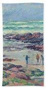 Grey Weather Beach Towel
