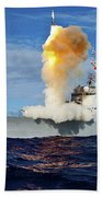 Guided Missile Destroyer Uss Hopper Beach Towel
