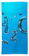 H2o Formula Made By Oxygen Bubbles In Water Beach Towel