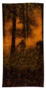 Halloween Horror Zombie Rampage Beach Towel