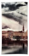 Hamburg At Dusk Beach Towel