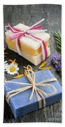 Handmade Soaps With Herbs Beach Towel