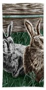Hare Line  Beach Towel