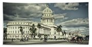 Havana National Capitol Beach Towel