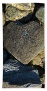 Heart Shaped Stone Loch Fyne  Beach Towel