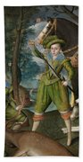 Henry Frederick Prince Of Wales With Sir John Harington In The Hunting Field Beach Towel