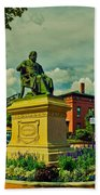 Henry Wadsworth Longfellow Monument - Portland, Maine Beach Towel