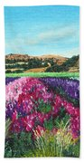 Highway 246 Flowers 3 Beach Towel