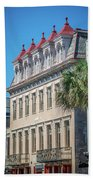 Historic Charleston South Carolina Downtown And Architetural Det Beach Towel