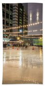 Holiday Scenes In Uptown Charlotte North Carolina Beach Sheet
