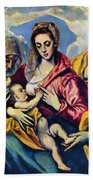 Holy Family With St Anne Beach Towel