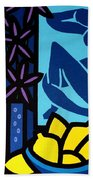 Homage To Matisse I Beach Towel