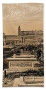 Hospital And Cemetery At Scutari, C.1854 Beach Towel