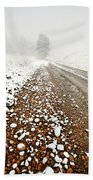Ice Fog In Cypress Hills Provincial Park Of Saskatchewan Beach Towel