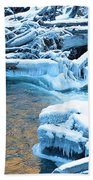 Icy Blue River Beach Towel
