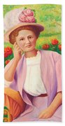 Ida In The Garden Beach Towel