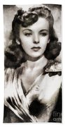 Ida Lupino, Vintage Actress Beach Towel