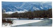 Idaho Winter River Beach Towel