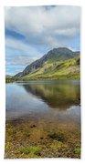 Idwal Lake Snowdonia Beach Towel by Adrian Evans