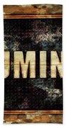 Illuminati Pop Art By Mary Bassett Beach Towel