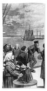 Immigrants On Ship, 1887 Beach Towel