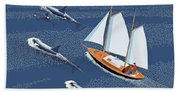 In The Company Of Whales Beach Towel