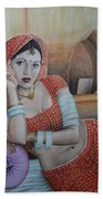 Indian Rajasthani Woman Beach Towel