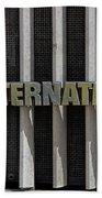International Semi Truck Emblem Beach Sheet