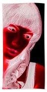 Inverted Realities - Red  Beach Towel