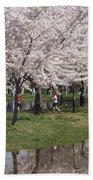 Japanese Cherry Blossom Trees Beach Sheet