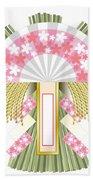 Japanese Newyear Decoration Beach Sheet